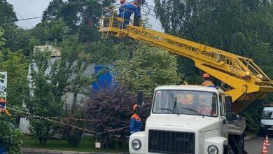 Photo of В большинстве населенных пунктов МО восстановлено электроснабжение после прошедших накануне ливня и шквалистого ветра