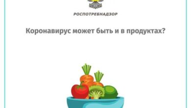 Photo of Наличие возбудителя COVID-19 в продуктах питания