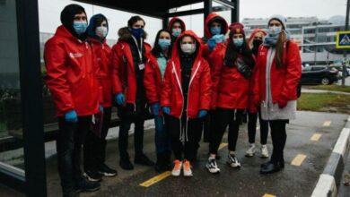 Photo of В часы пик наши волонтеры проводят мониторинг соблюдения масочного режима на общественном транспорте Ивантеевки