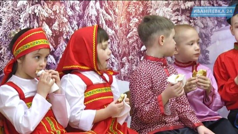 Масленица в детском саду едят блины