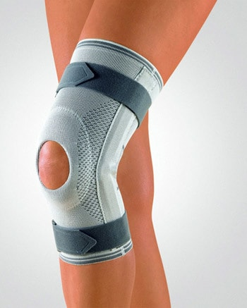 открытый коленный бандаж с регулировкой