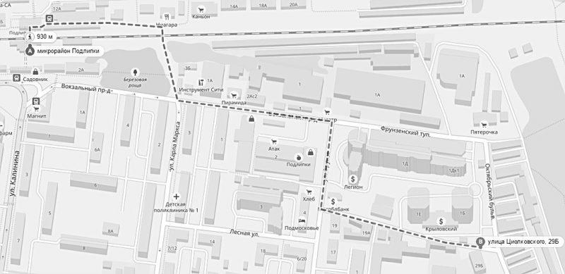 Схема проезда в Мособлгаз Королев