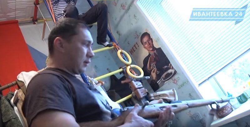 Реконструктор войны Юрий Горшков. Слайд 1